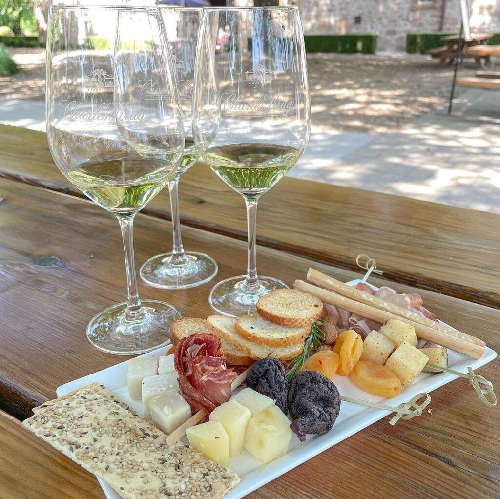 Wine and food at Charles Krug Winery