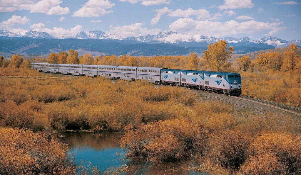California Zephyr Amtrak train fall foliage