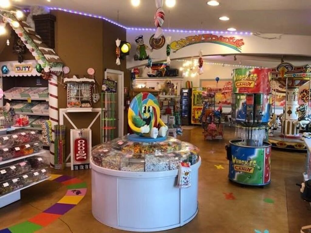 Candy Edventure Shop Inside in Swansboro, North Carolina.