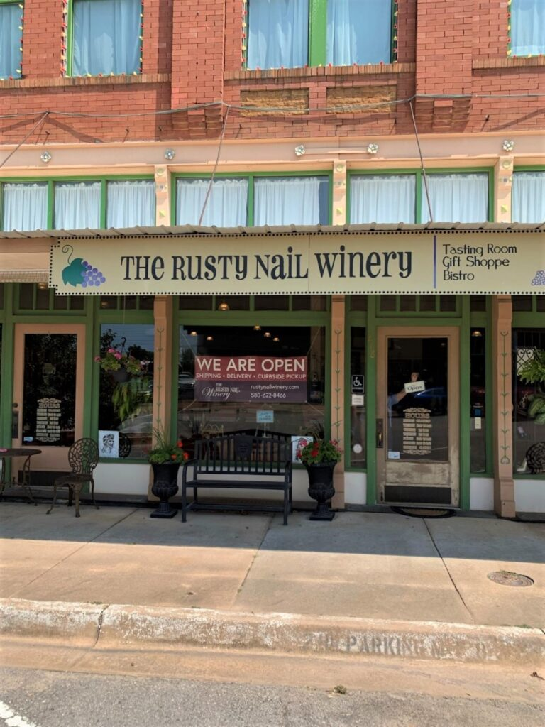 The rusty nail winery storefront.