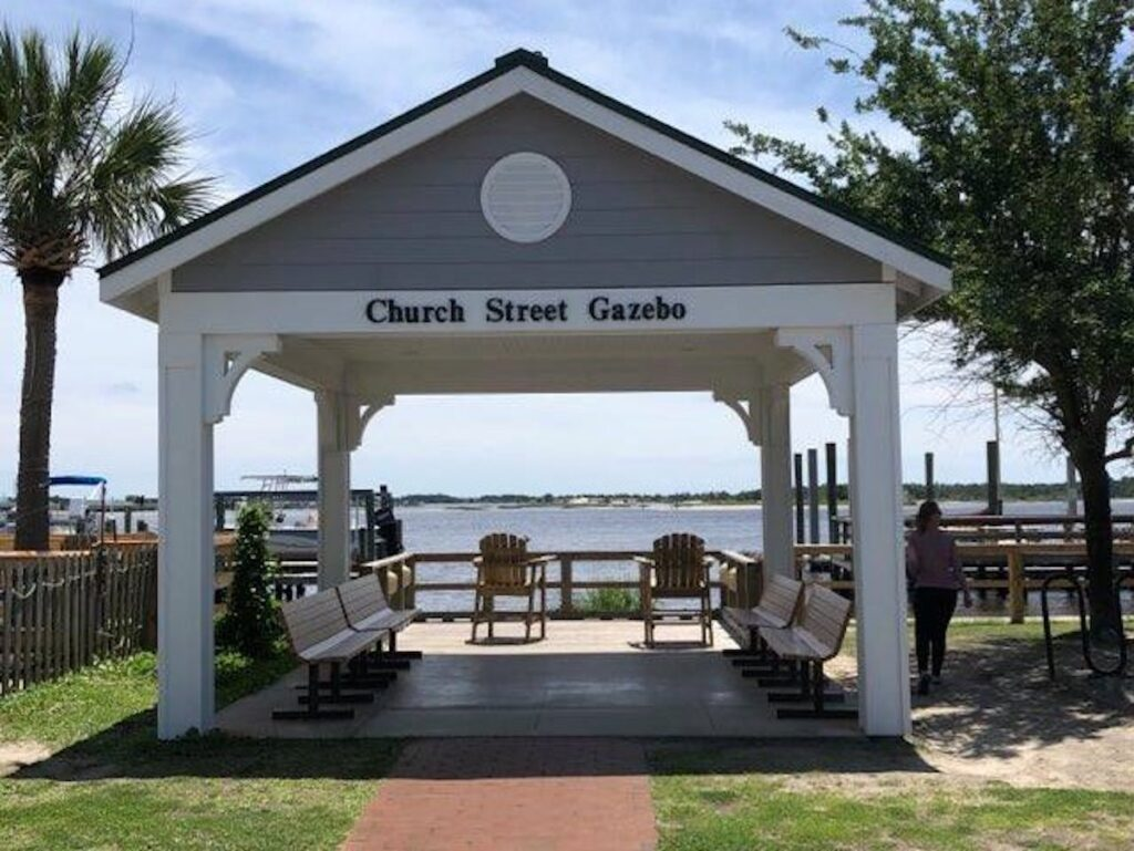 Church Street Gazebo in Swansboro, North Carolina.