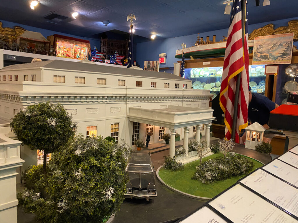 Miniature White House at the Presidents Hall of Fame in Clermont, Florida