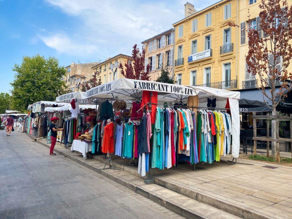 Cours Marché Provençal Mirapev;  Aix-en-Provence, France