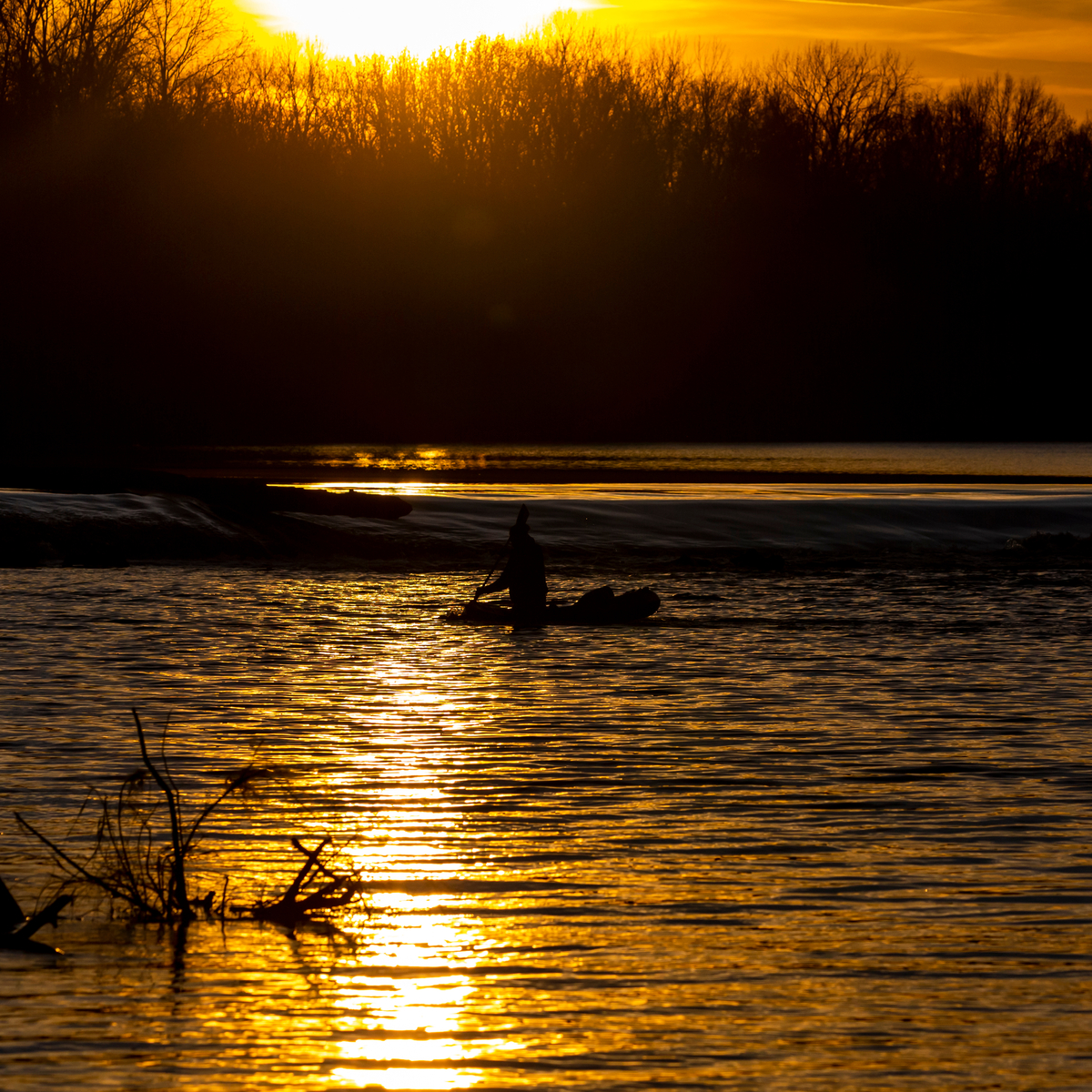 Kayaking on the Missouri River