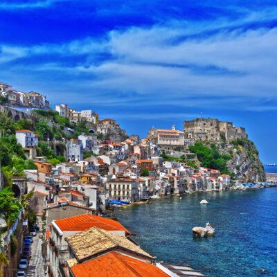 The city of Scilla in the Province of Reggio Calabria, Italy.