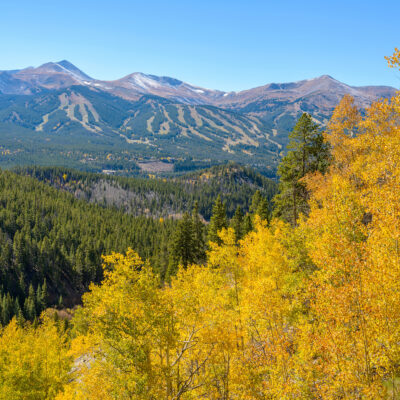 Autumn at Breckenridge - An autumn view of ski slopes of Breckenridge, Colorado, USA.