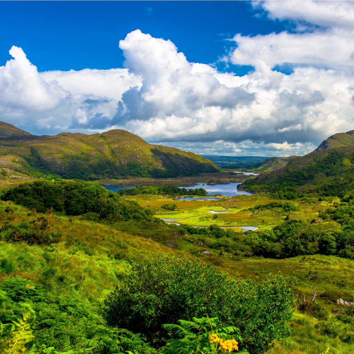 Landscape of Lady's view, Killarney National Park in Ireland