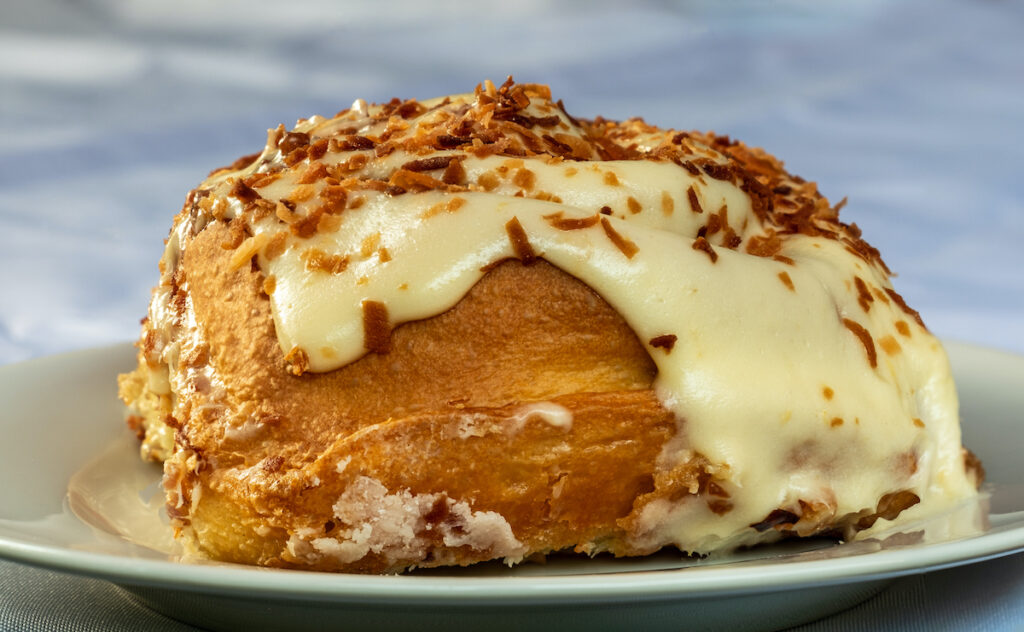 Coconut and orange sweet roll from Creswell Bakery.