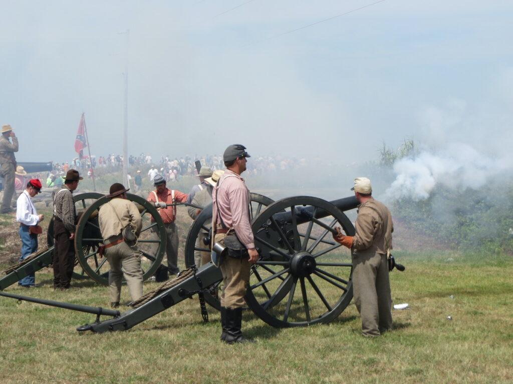War re-enactment at Fort Morgan, Alabama.