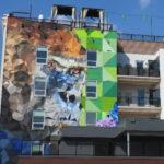 Giant ape mural in Kansas City, Missouri's Crossroads Arts District.