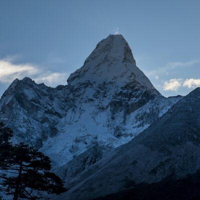 Mount Everest seen from below.