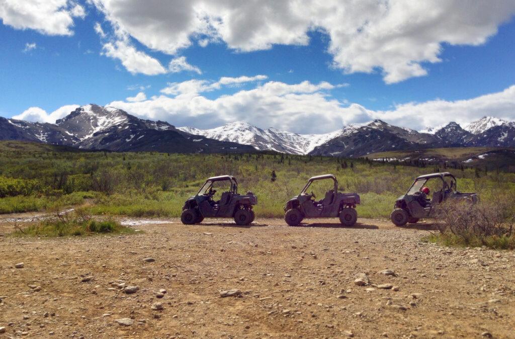 ATVs near Denali National Park, Alaska