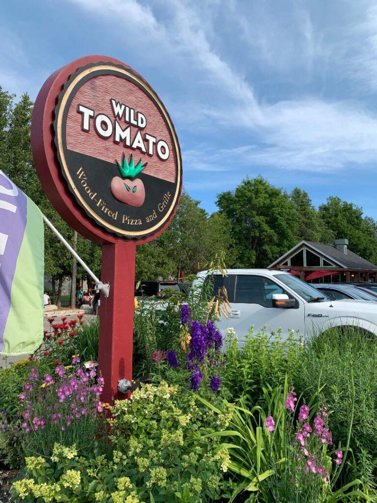 Wild Tomato wood-fired pizza in Fish Creek, Door County, Wisconsin.