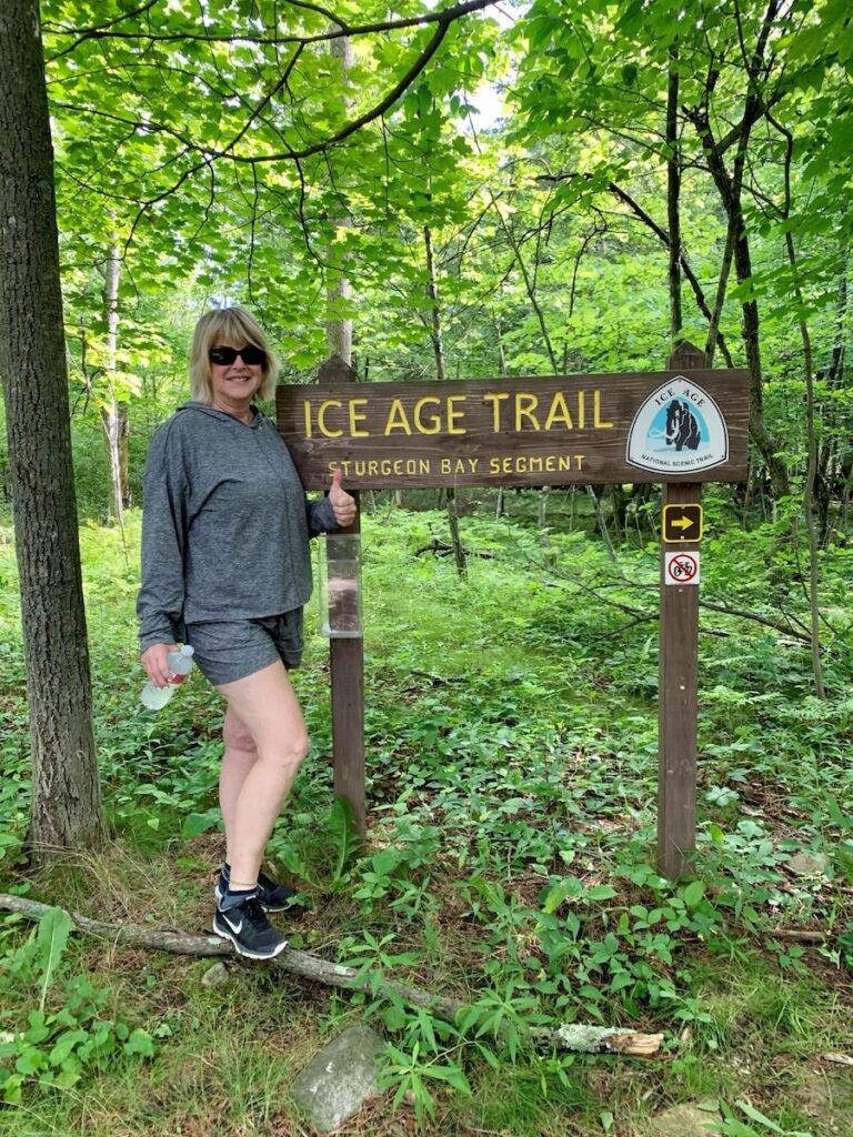 Ice Age Trail, Potawatomi State Park, Door County, Wisconsin.
