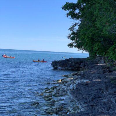 Kayaking in Sturgeon Bay, Door County, Wisconsin.