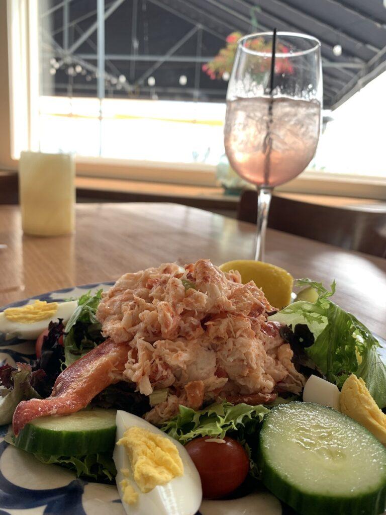 Lobster salad from The Lobster Pot, Bristol, Rhode Island.