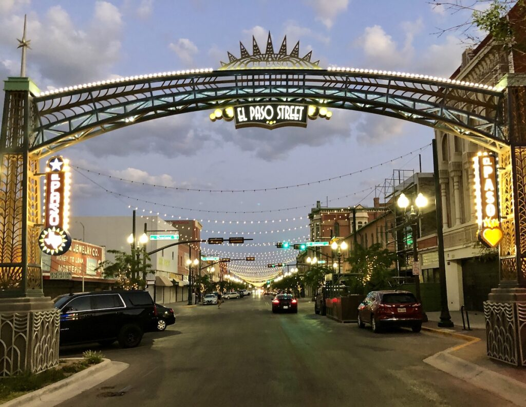 Evening on El Paso Street.