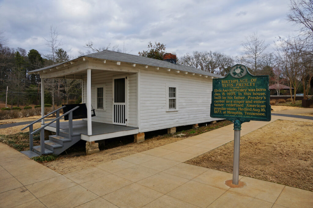 Birthplace of Elvis Presley in Tupelo, Mississippi