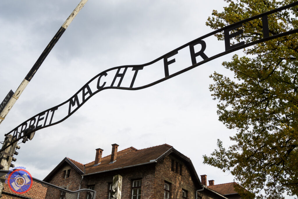 Entrance into the Auschwitz Concentration Camp Proclaiming that Work Sets You Free