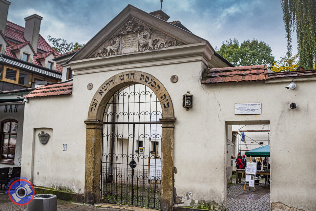 Entrance to the Remuh Synagogue in Krakow