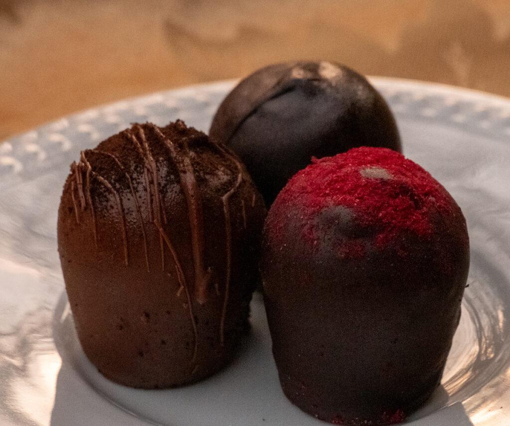 Truffles from the Euphoria Chocolate Company.