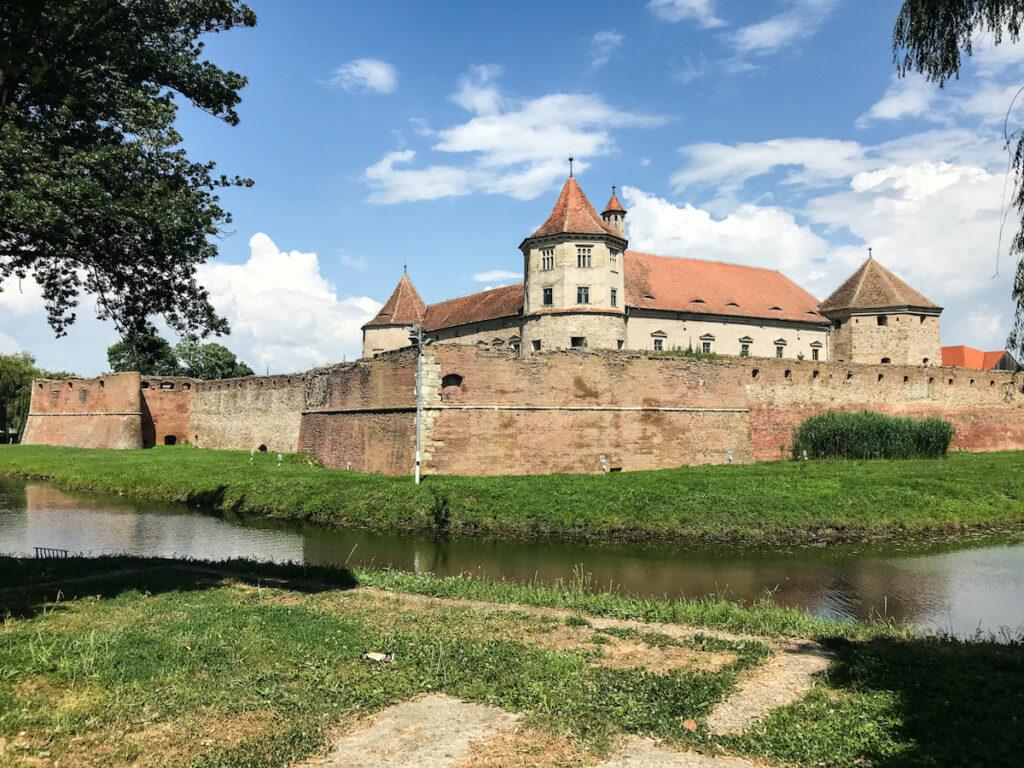 Citadel of Făgăraș in Transylvania, Romania.