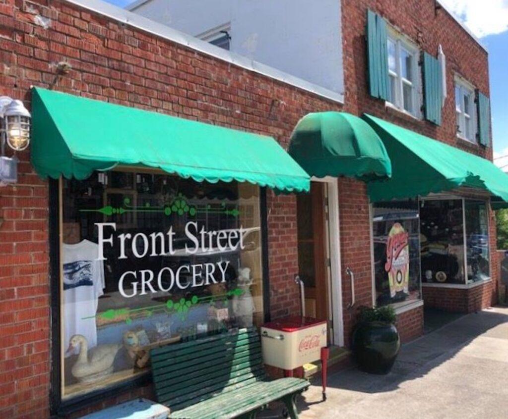 Yana's Restaurant Front Street in Swansboro, North Carolina.