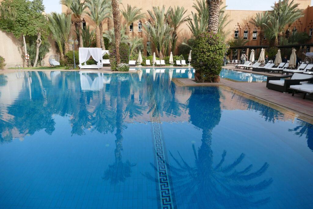 Hotel pool in Ouarzazate, Morocoo