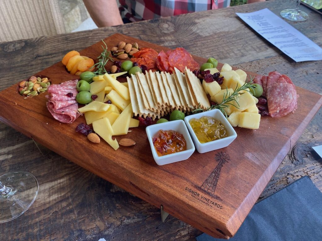 Spread of charcuterie at the Watonga Cheese Festival.