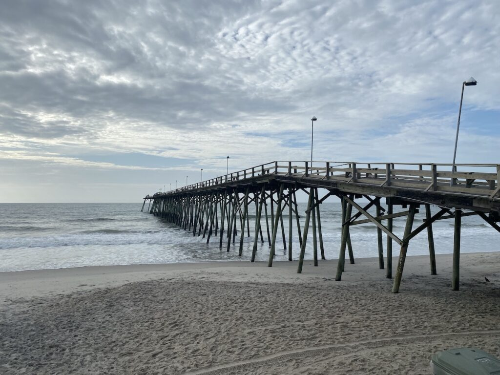 Kure Beach, just two and a half hours from Raleigh, North Carolina.