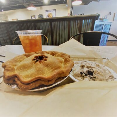 The delicious Chicken Pot Pie at the Fayetteville Pie Company.