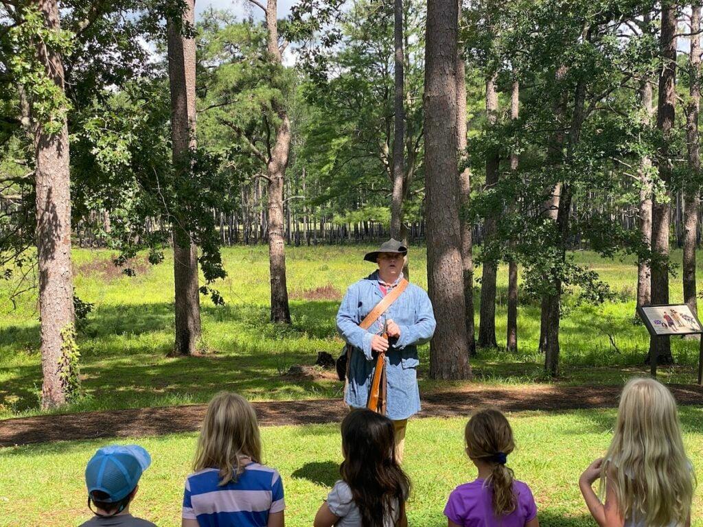 Demonstration at Moores Creek National Battlefield, North Carolina.