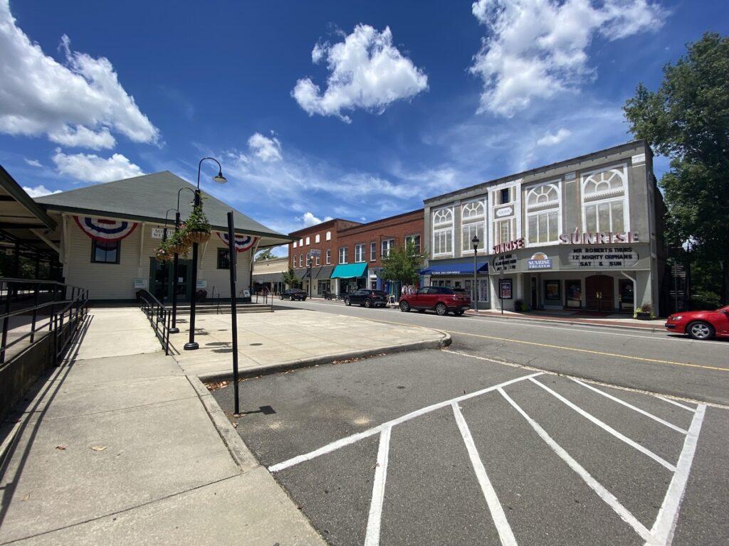 Downtown Southern Pines, North Carolina.