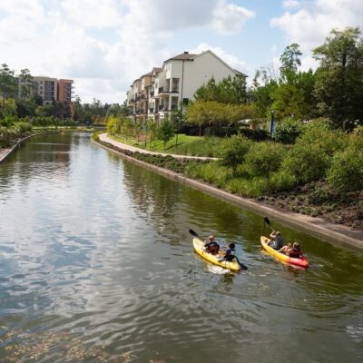 Kayakers on The Waterway