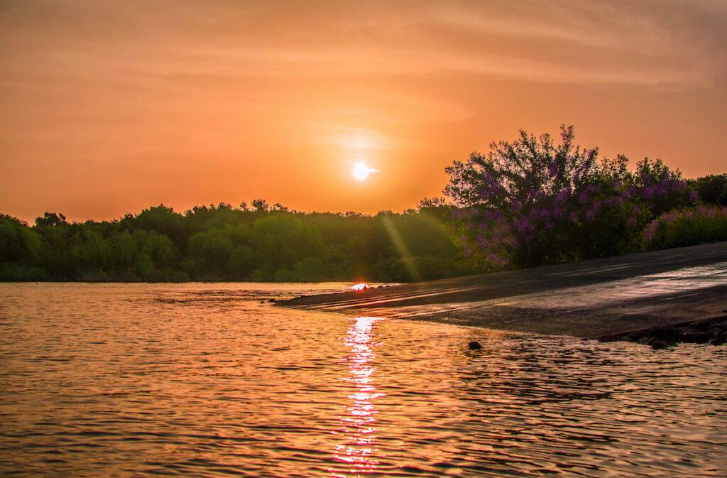 Sunset at Lake Lavon, Texas