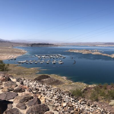Lake Mead from above.