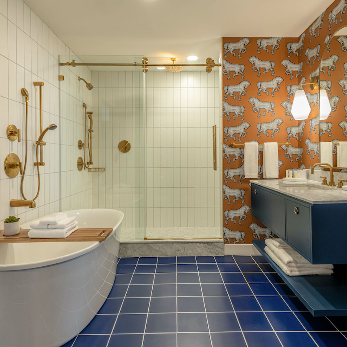 Luxury bathroom at The Bradley Hotel