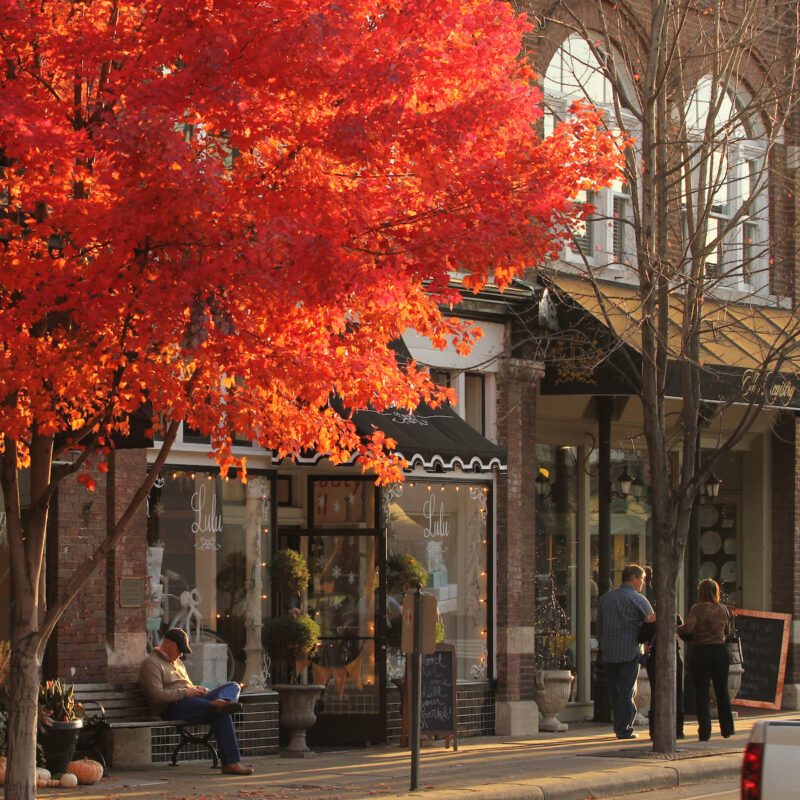 Main Street in Franklin, Tennessee.