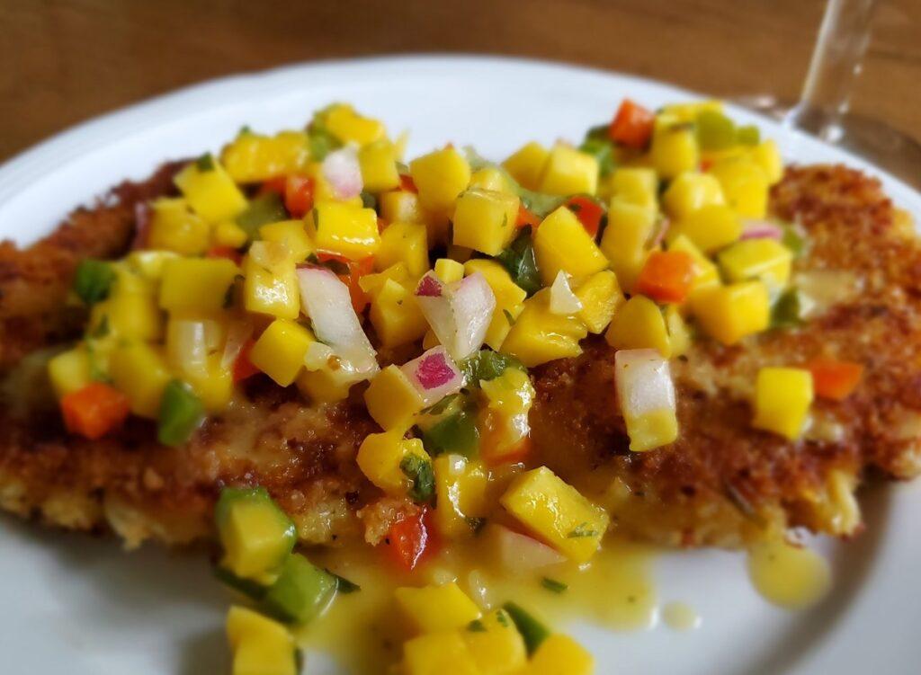 Schilleci's New Orleans Kitchen Mango Crabcakes.