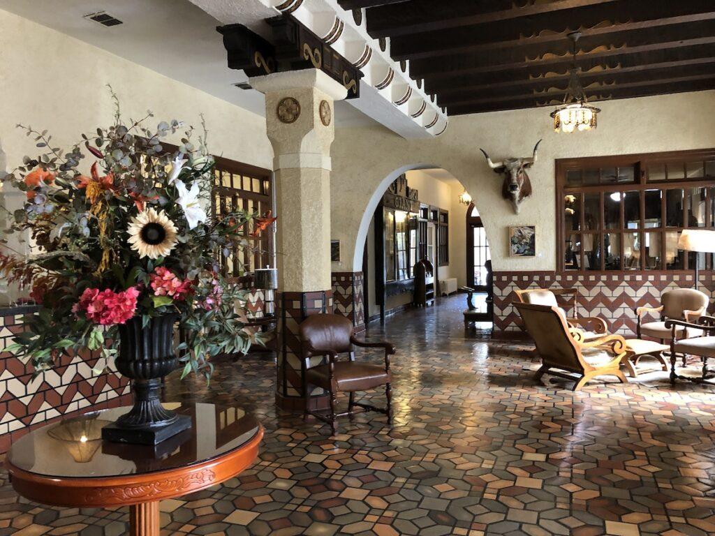 Hotel Paisano Lobby in Marfa.