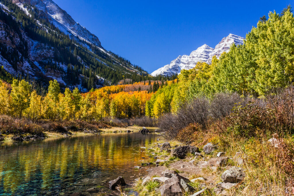 Maroon Bells in White River National Forest, Colorado