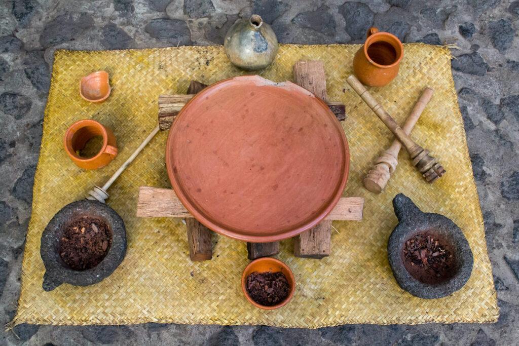 Mayan chocolate making tools