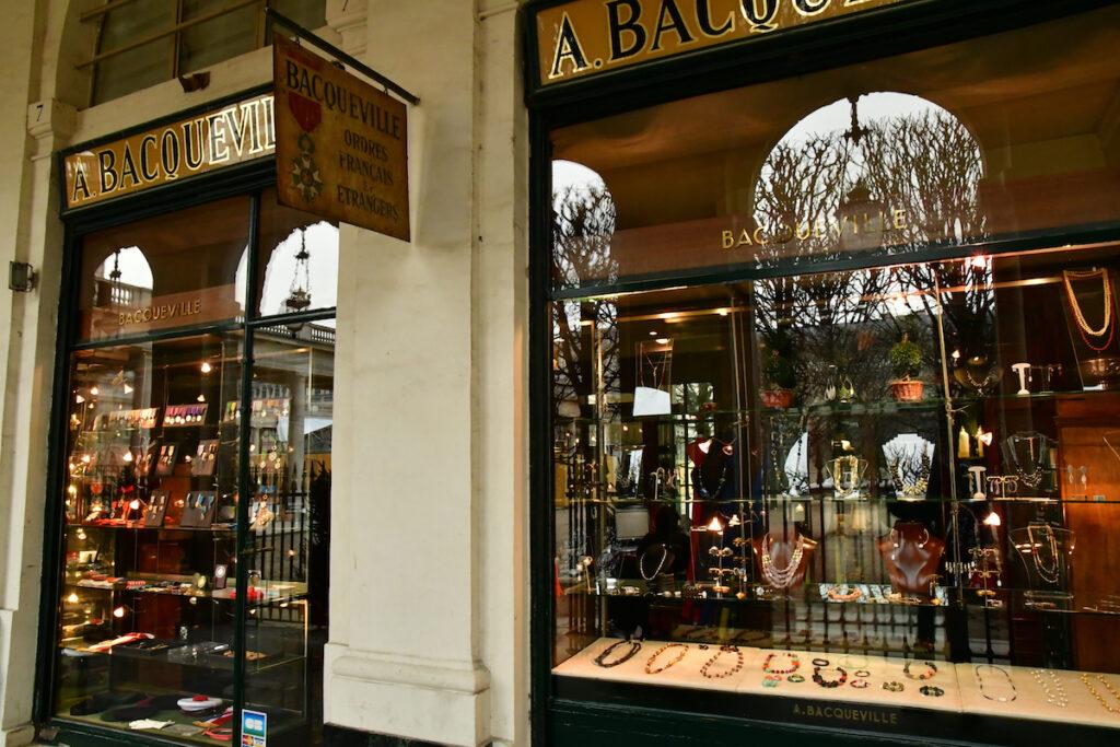 Antique dealer in the Palais Royal district; Paris, France