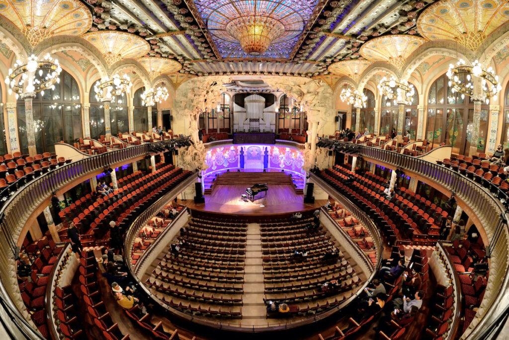Palau De La Musica Catalana in Barcelona, Spain.