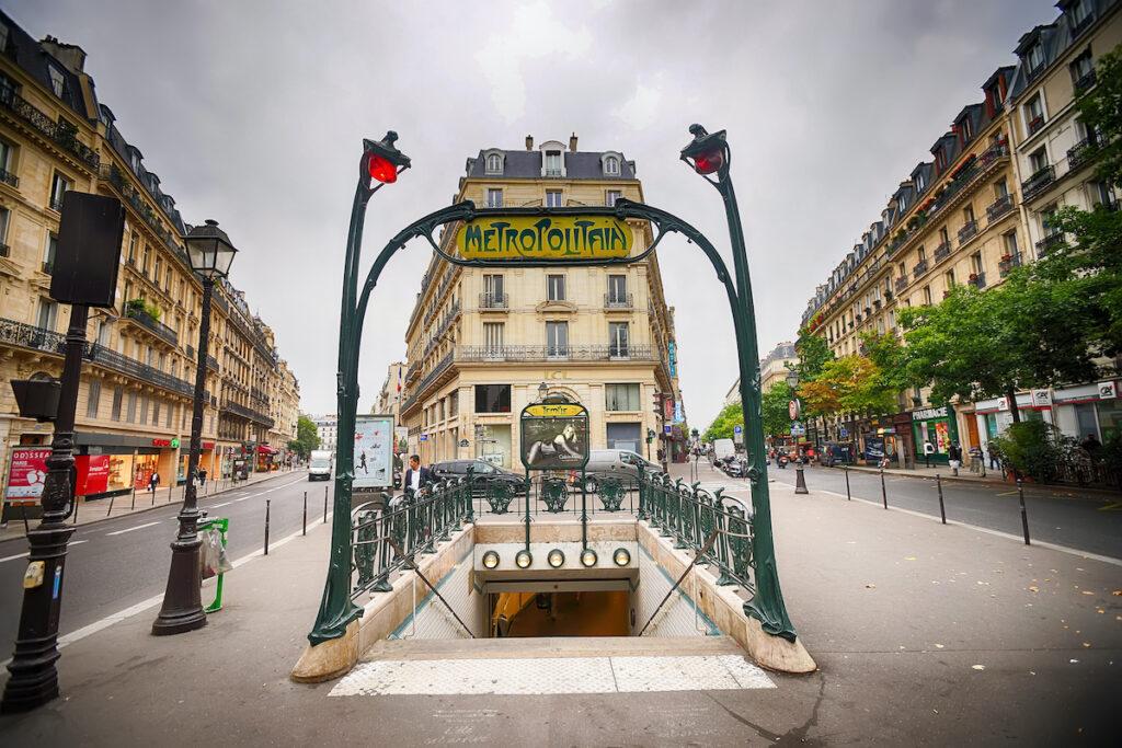 Metro entrance in Paris, France