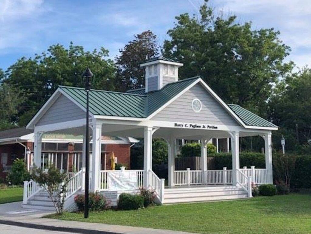 Olde Towne Square Pavilion Close-Up in Swansboro, North Carolina.