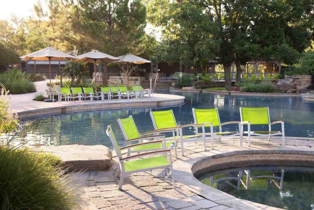 One of the pools at Hyatt Regency Lost Pines Resort