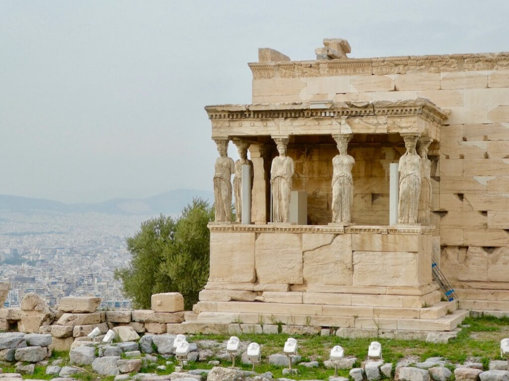Porch of the Maidens Parthenon in Athens, Greece