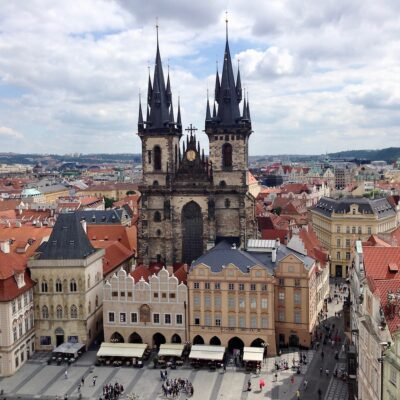 Prague. Old Town Square - View from the Old Town Hall Tower