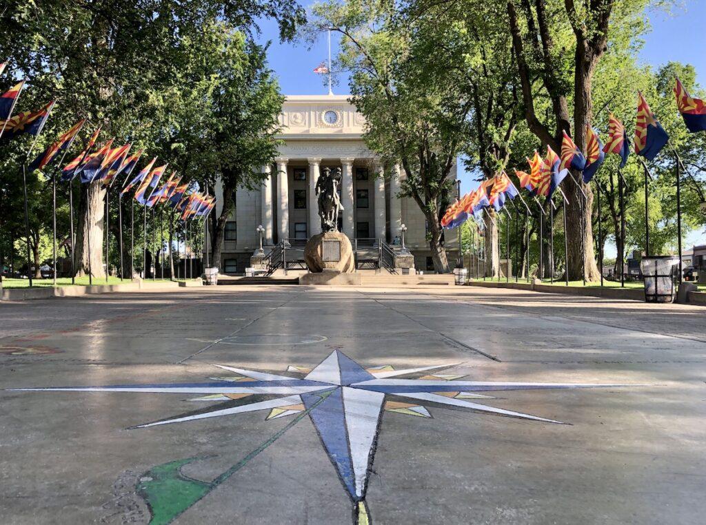 Prescott, AZ - Downtown Yavapai County Courthouse Plaza